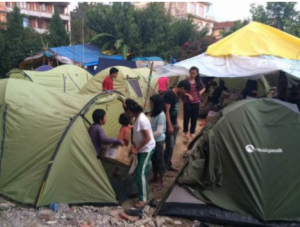 Artists Project Earth Contributes to Earthquake Disaster Relief, Nepal 2015