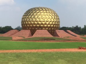 Matrimandir, Auroville. A building of spiritual significance for practitioners of Integral Yoga.